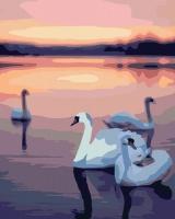 HS 1065 Лебеди на закате