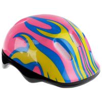 Шлем защитный детский OT-H6, размер M (55-58 см), цвет розовый 134252