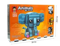 Конструктор. ANIMALS (150+дет) 11041 Животные в ассортименте