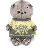 Кот Басик BABY в свитере 20см