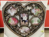 Фоторамка в форме сердца BABY - бронза