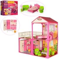 Игровой дом для кукол 2х этажный My Lovely Villa. 6982-B