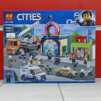 Конструктор. Cities (848дет) 11392 Открытие магазина по продаже пончиков