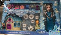Холодное сердце (Frozen) Набор: кукла + дом + посуда. 2285-7