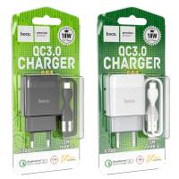 Зарядное уст-во с кабелем USB-Type-C HOCO C72Q (18W). 1м