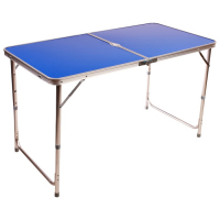 Стол туристический складной, алюминиевый, 120 х 60 х 70 см, цвет синий 3941144