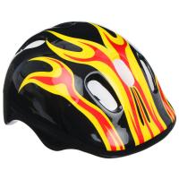 Шлем защитный детский OT-H6, размер M (55-58 см), цвет чёрный 634905