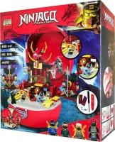 Конструктор. Ninja (402дет) 3D83 Битва в храме (чемодан)