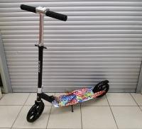 Самокат взрослый, 2х колес., колеса 200мм. Широкая платформа (Принт)