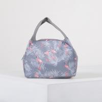 Сумка-термо Фламинго 23×14×16 см, отдел на молнии, цвет серый. 4607233