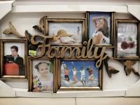 "Фоторамка 6 в 1 ""Family"" - бронза"