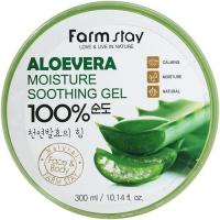 Farm Stay. Moisture Soothing Gel Aloe Vera 100%. Многофункциональный гель для тела и лица с алоэ 100%. 300мл