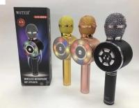Микрофон караоке Wster WS-669, беспроводной, bluetooth