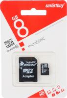 8 Gb microSD Smartbuy Class 10 с адаптером