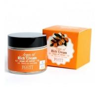 Jigott. Rich Cream Argan Oil - Питательный крем для лица с аргановым маслом (70мл)