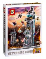 Конструктор. Heroes Assemble (Супер Герои) (1209 дет) SH 678. Нападение на башню Мстителей