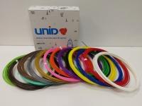 Набор пластика для 3D ручек: ABS-15 (по 10м. 15 цветов в коробке)