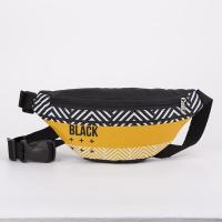 Сумка поясная Black, 32х8х15 см, отд на молнии, н/карман, чёрный 5467257