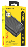 Внешний аккумулятор Borofone BT35A 20000 mAh 2USB Black