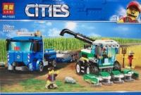 Конструктор. Cities (370дет) 11223 Сельский Комбайн