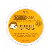 Ekel. Hydrogel Eye Patch Gold Snail - Гидрогелевые патчи с золотом и муцином Улитки