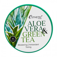 Esthetic house. Aloe Vera&Green Tea Hydrogel Eye Patch - Увлажняющие гидрогелевые патчи с экстрактом алоэ и зеленого чая
