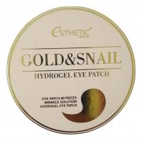 Esthetic house. Gold & Snail Hydrogel Eye Patch - Гидрогелевые патчи с золотом и муцином улитки