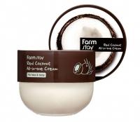 Farm Stay. Real Coconut All-in-one Cream - Многофункциональный крем для лица и тела с кокосом. 300мл