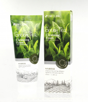 3W Clinic. Green Tea Foam Cleansing. Пенка для умывания натуральная ЗЕЛЕНЫЙ ЧАЙ , 100 мл