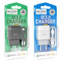 Зарядное уст-во с кабелем USB-MicroUSB HOCO C72Q (18W). 1м