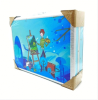 """Художественный набор 158 предметов """"Голубой"""" (жел. чемоданчик)"""