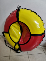 Тюбинг 95см ПВХ (красно-желт)