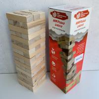 Настольная игра Дженга МУТ с фантами (падающая башня)