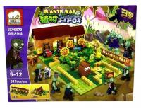 Конструктор. Зомби против растений (Plants vs Zombies) (595дет) JX 90070. Сад Растений