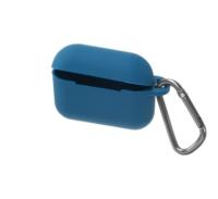 Чехол HANG Silicone Case с карабином для AirPods Pro, синий 4908698