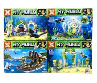 Конструктор. Майнкрафт (Minecraft) (165+дет) 1026 Подводный мир
