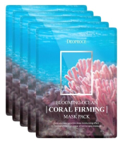 Deoproce. Blooming Ocean Firming Mask Pack - Тканевая маска для лица на основе кораллов с эффектом укрепления