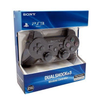 Джойстик PS 3 Wireless Dual Shock Black (China) (коробка)
