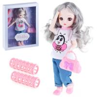 Кукла шарнирная Wedding + бигуди. YL205-13
