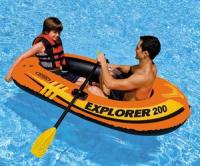 """Лодка """"Explorer 200"""" 2-мест. (185х94х41см)+насос+весла 58331"""