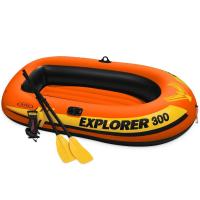 "Лодка ""Explorer 300"" 3-мест. (211x117x41см)+насос+весла 58332"