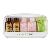 Nature Republic. Travel Mate All In One Kit - Набор миниатюр 5в1