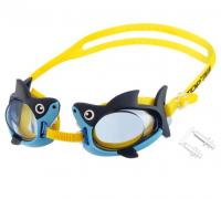 """Очки для плавания """"Акуленок"""" + беруши, детские, цвет синий   4736483"""
