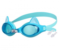 Очки для плавания, детские Котенок, цвет голубой   3867713