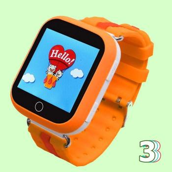 Детские часы с GPS Wonlex GW200S (Q100) (оранжевые)