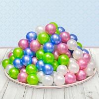 Шарики для сухого бассейна «Перламутровые», диаметр шара 7,5 см, набор 50 штук, цвет розовый, голубой, белый, зелёный 2390633