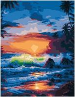 PK 72018 Бушующие волны на закате