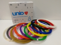 Набор пластика для 3D ручек: PLA-12 (по 10м. 12 цветов в коробке)