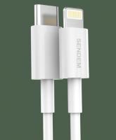 Кабель SENDEM M26 PRO USB 3A (Lighting-Type-C) 1м