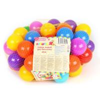 Шарики для сухого бассейна с рисунком, диаметр шара 7,5 см, набор 60 штук, разноцветные  1180349